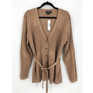 NEW Pendleton Belted Cardigan Sweater SilkBlend XL